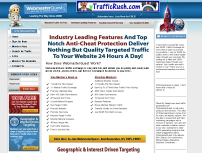 get website traffic easily review